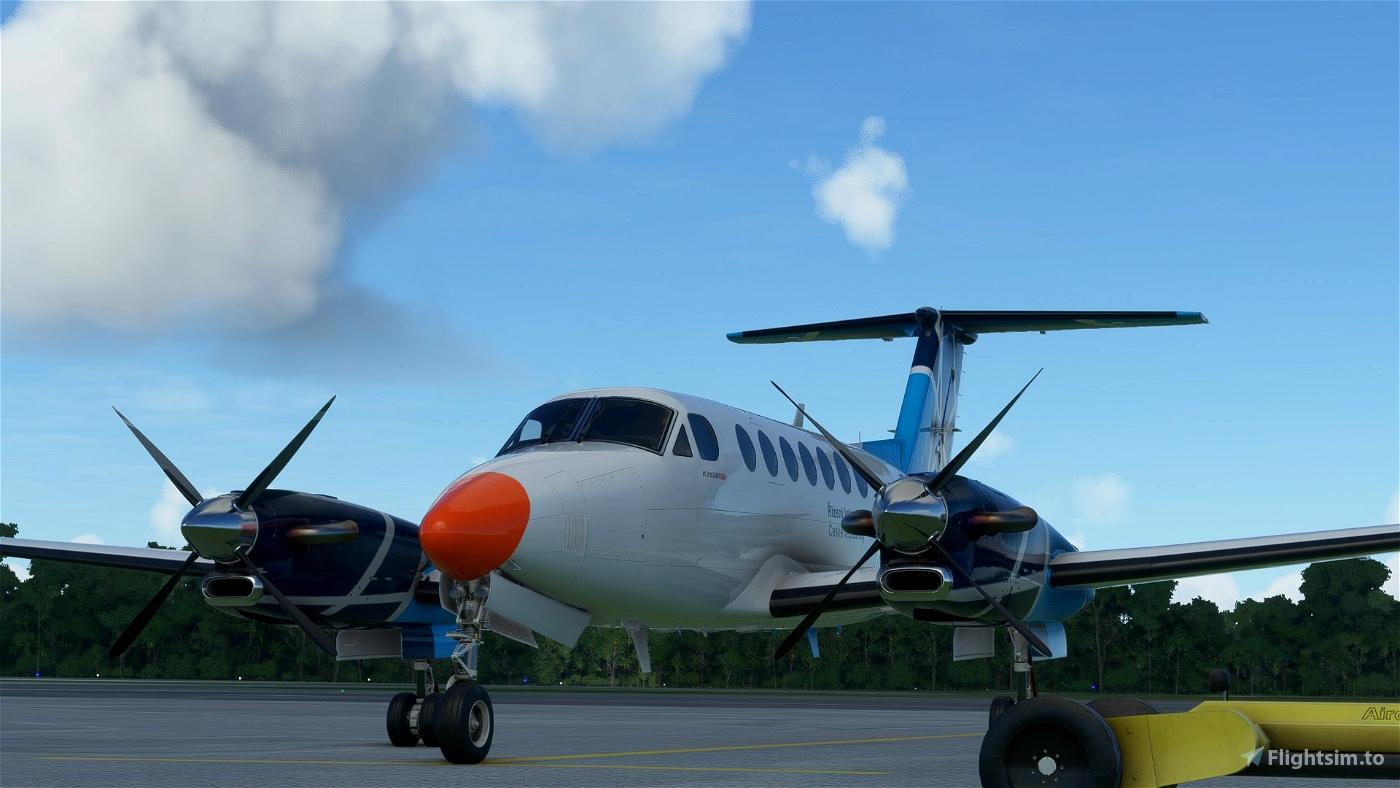 Beechcraft King Air 350 OK-RLP Air Navigation Services of Czech republic Flight Simulator 2020