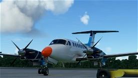 Beechcraft King Air 350 OK-RLP Air Navigation Services of Czech republic Image Flight Simulator 2020