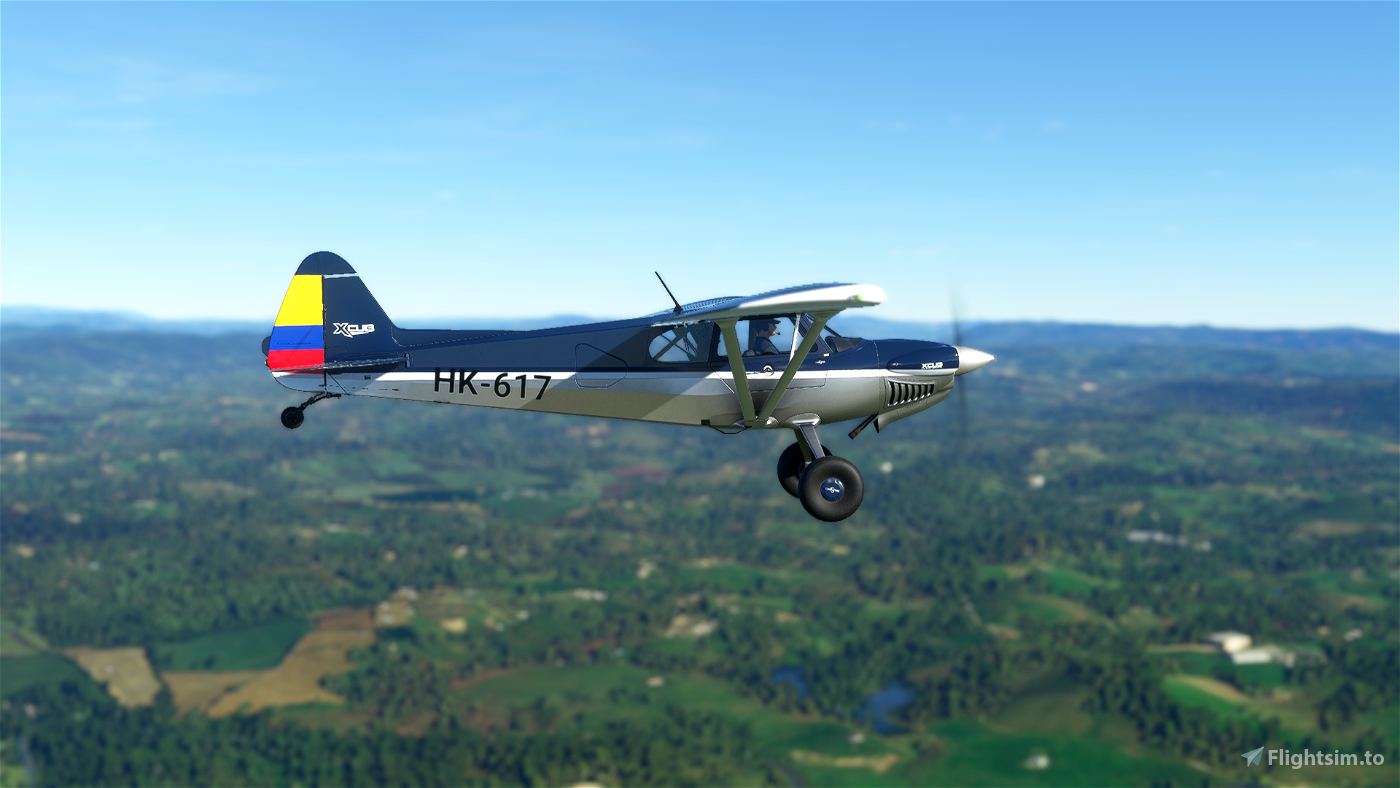 X-Cub Classic Design Navy Blue Colombia Edition Flight Simulator 2020