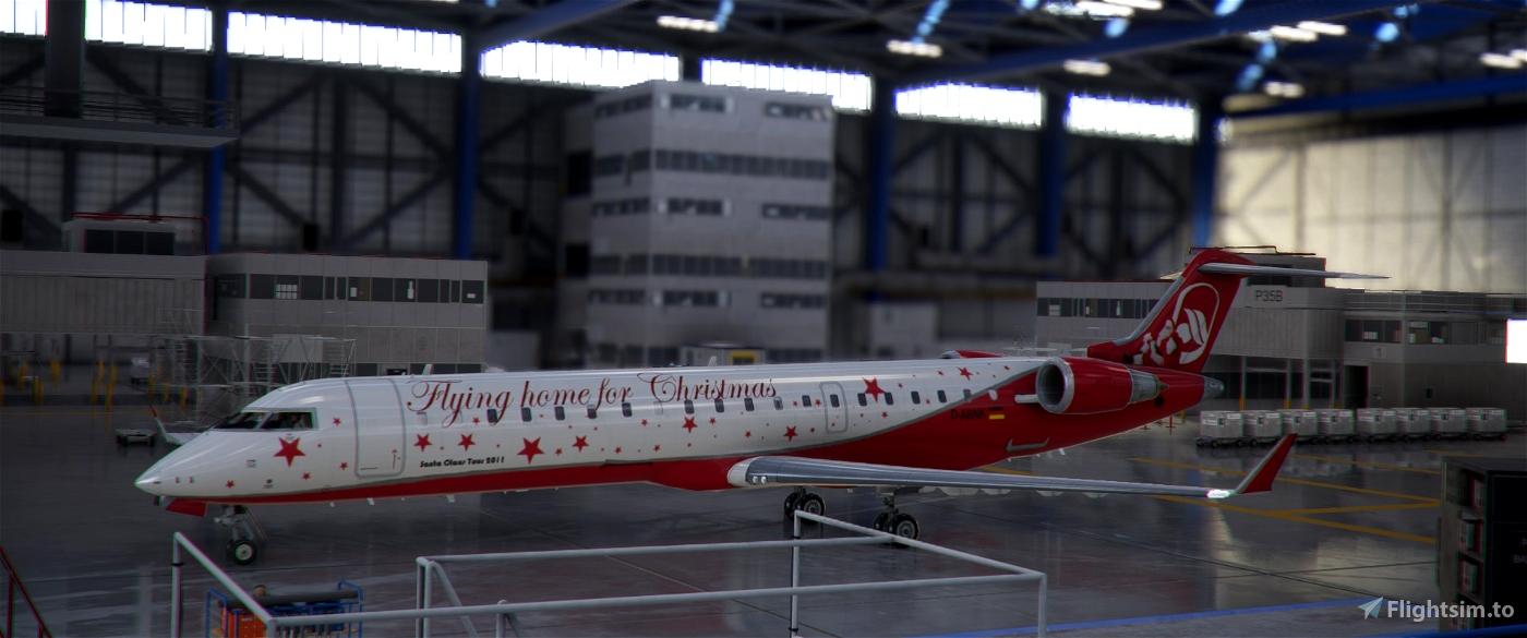 Air Berlin CRJ 700 Christmas edition Stanta Claus Tour 2011 Image Flight Simulator 2020