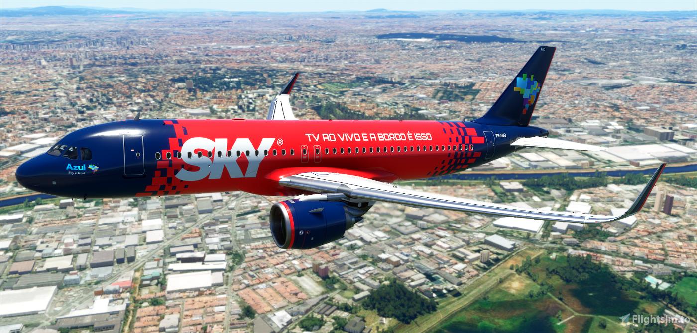 AZUL A320 8K (Sky) Flight Simulator 2020