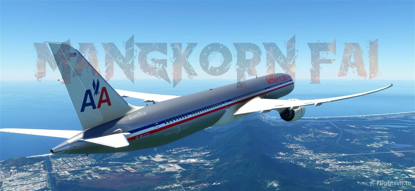 American Airlines Retrofit 787 Flight Simulator 2020