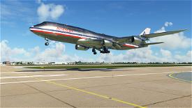 Boeing 747-8 American Airlines Classic Image Flight Simulator 2020