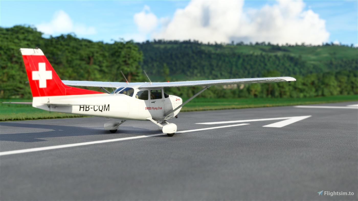 Asobo Cessna 172 SWISS Flying Club HB-CQM (Classic)