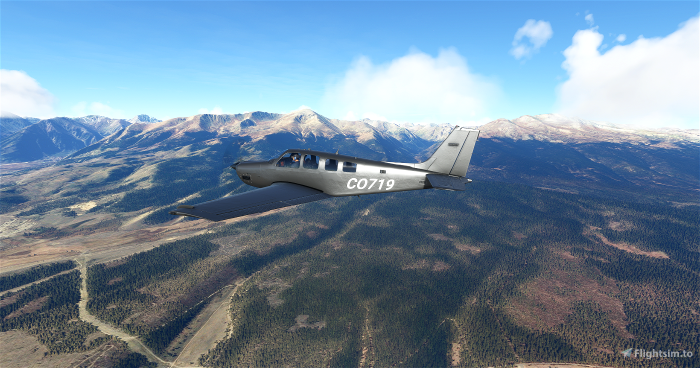 Bonanza G36 Gunmetal Flight Simulator 2020
