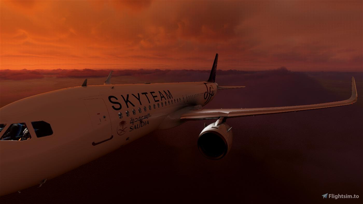 Saudia (Sky Team) A320 Flight Simulator 2020