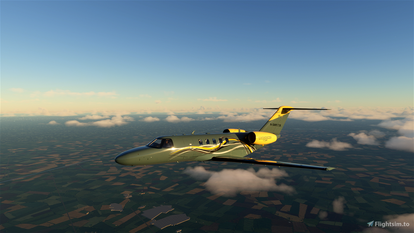 Citation CJ4 Yellow Gray