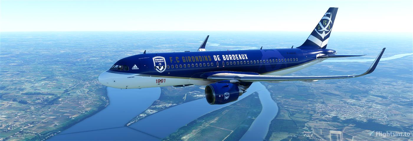 A320neo Football Club Girondins de Bordeaux Flight Simulator 2020