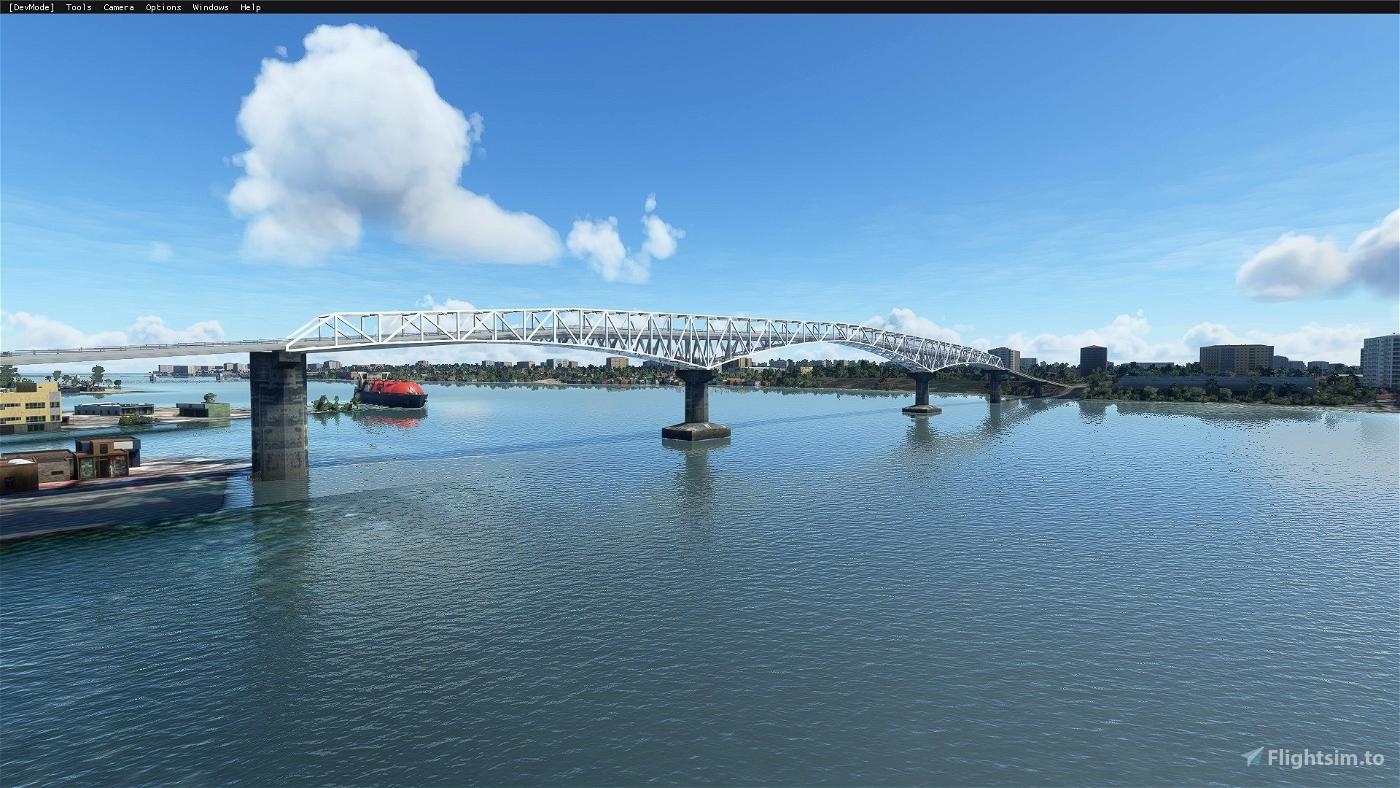 Sergio Osmeña Bridge (Mandue-Mactan Bridge)(Cebu City,Philippines) Flight Simulator 2020