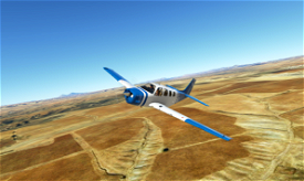 Bonanza Blue/White Image Flight Simulator 2020