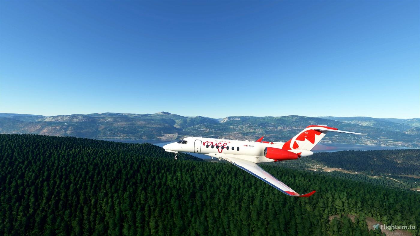 Citation Longitude Air Canada Rouge