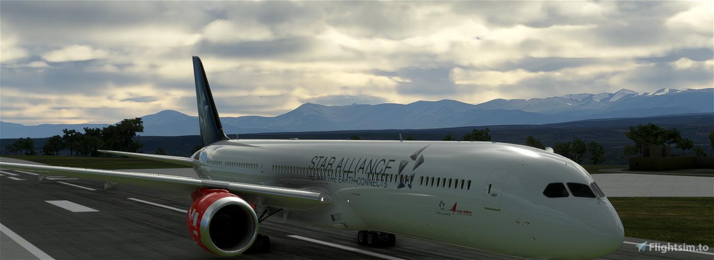 (8K) Boeing 787 Star Alliance Air India Flight Simulator 2020
