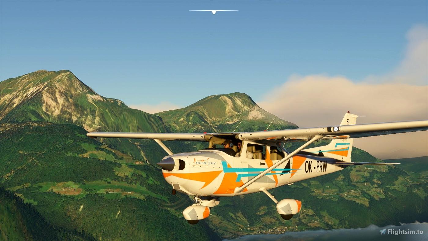 Cessna 172 G1000 OK-PRW Bluesky Aviation Flight Simulator 2020