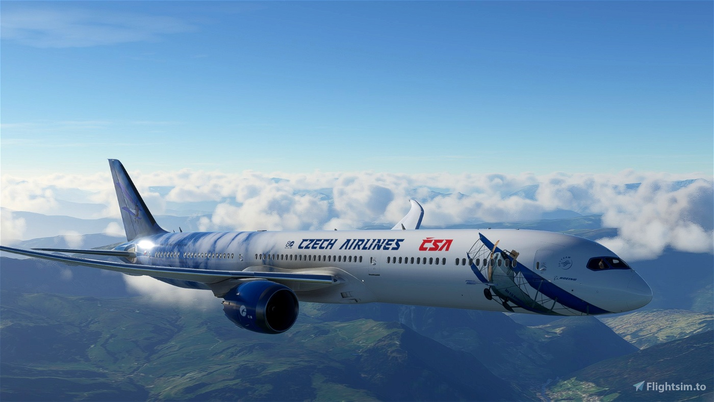 Boeing 787-10 CSA (Czech Airlines) 80th Celebration