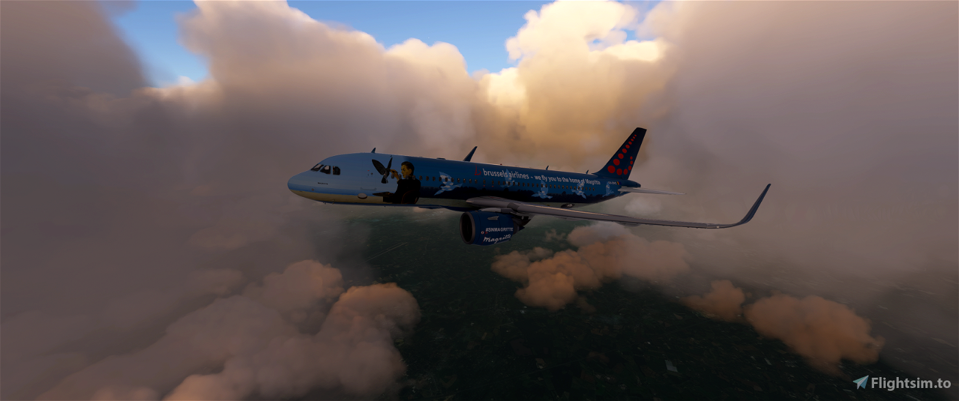 [8k] A320 Neo Brussels Airlines - SN Magritte