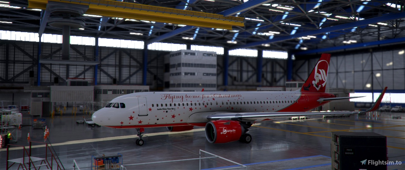 Air Berlin A320 NEO - Christmas edition Stanta Claus Tour 2011