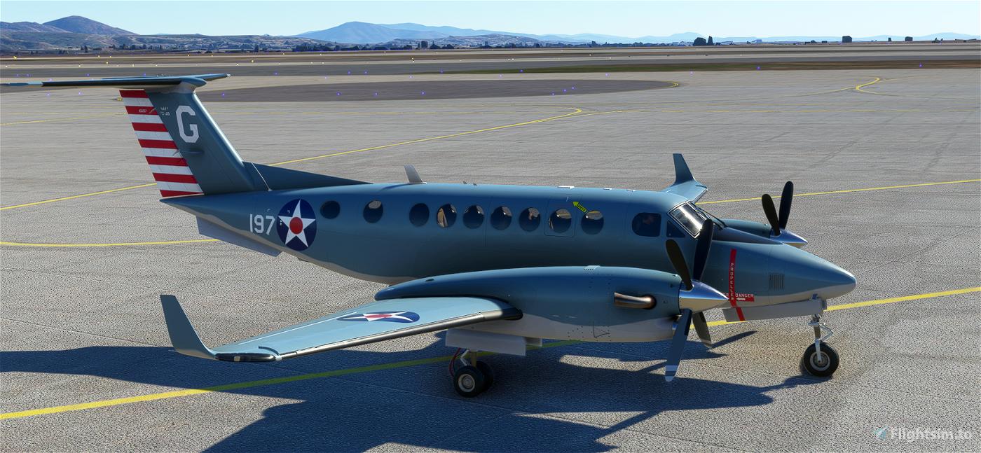Beechcraft King Air US Navy 100th Anniversary of Naval Aviation Flight Simulator 2020