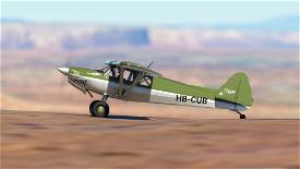 X-Cub Classic Design Olive Drap Image Flight Simulator 2020