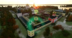 Valday Landmarks and ULNA airfield (with orthophoto) Image Flight Simulator 2020