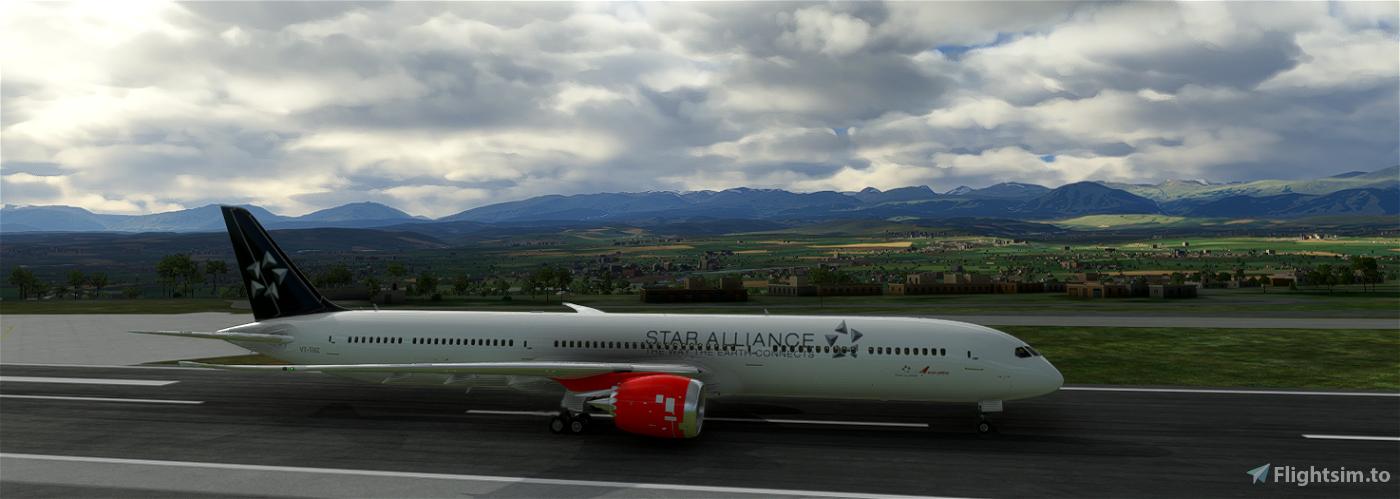 (8K) Boeing 787 Star Alliance Air India
