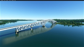 San Juanico Bridge (RGB)(Tacloban City,Philippines) Image Flight Simulator 2020