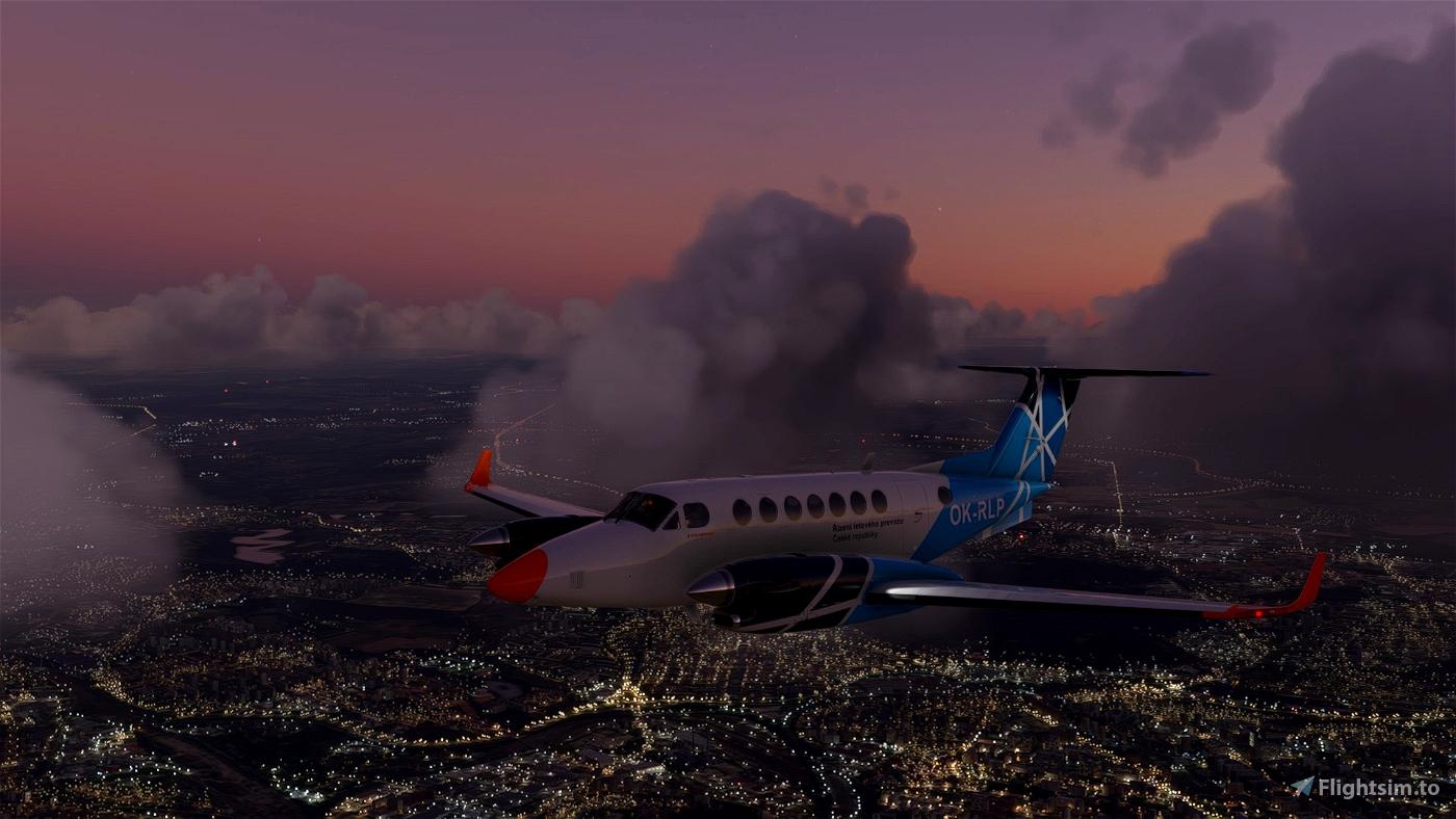 Beechcraft King Air 350 OK-RLP Air Navigation Services of Czech republic