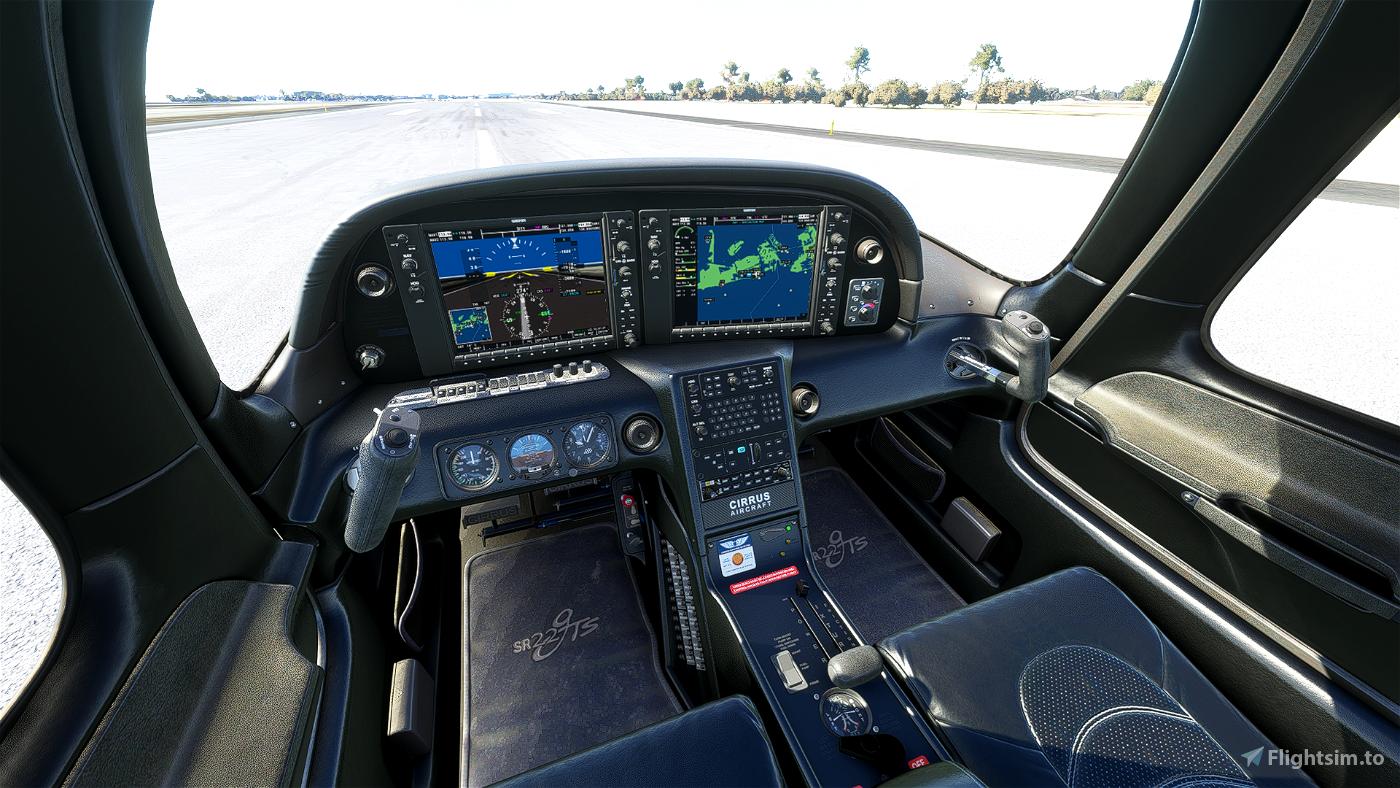 Black Interior Cirrus SR22 Flight Simulator 2020