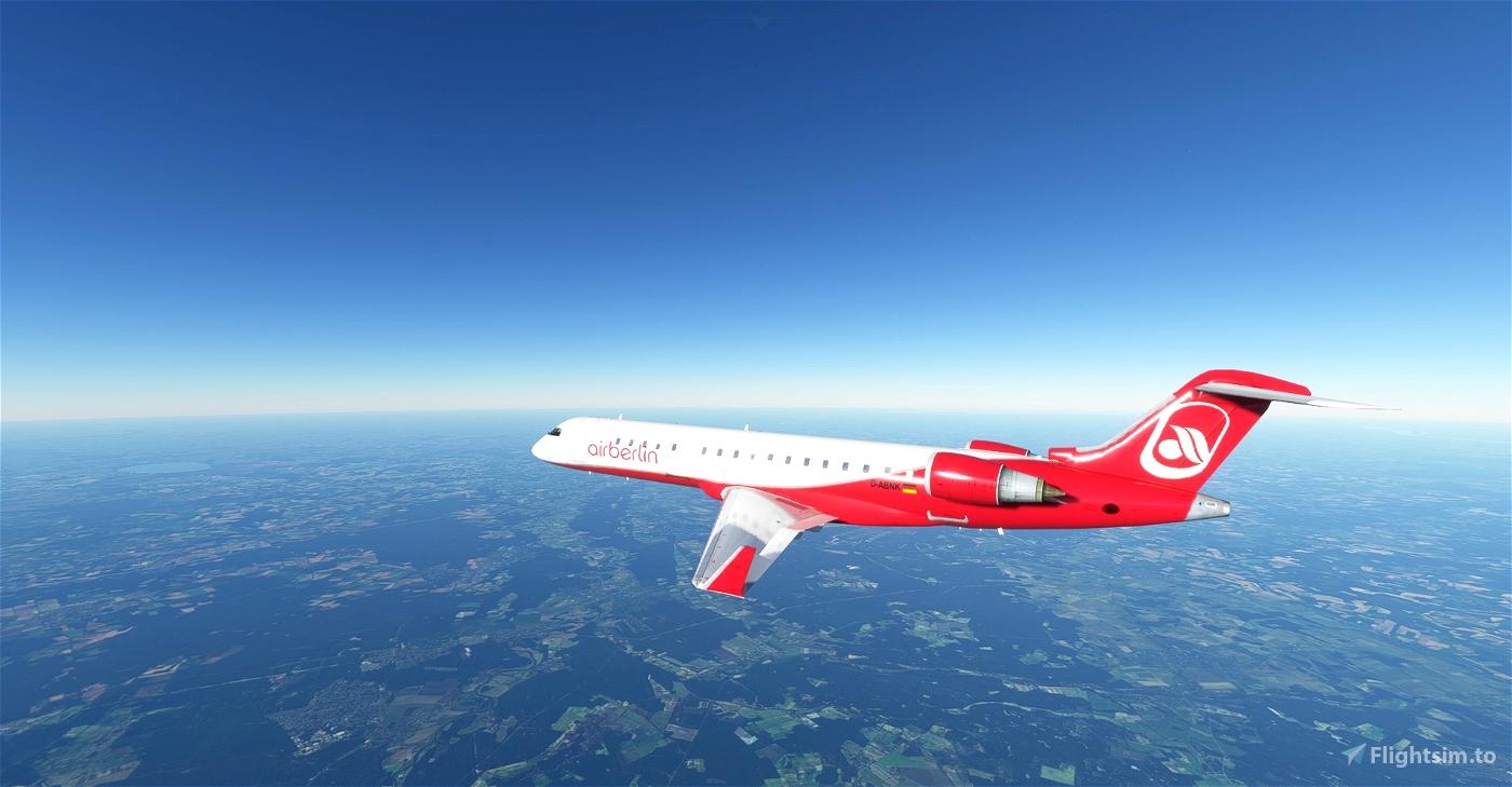 Air Berlin livery CRJ 700 Image Flight Simulator 2020
