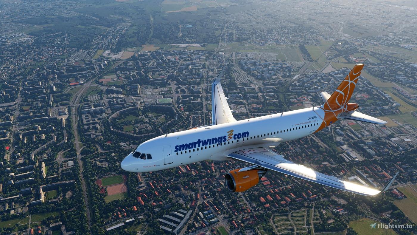 A320 NEO ČSA (Czech Airlines) Smartwings Orange