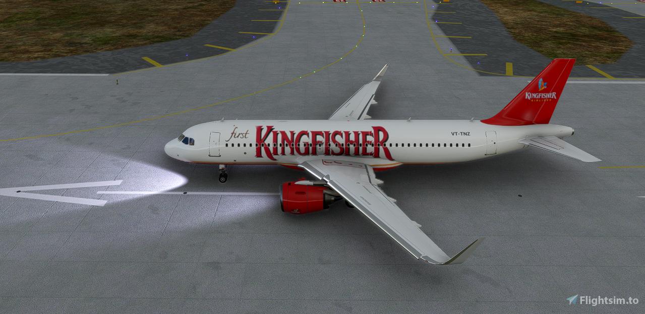 (8K) Kingfisher Airlines A320 Flight Simulator 2020
