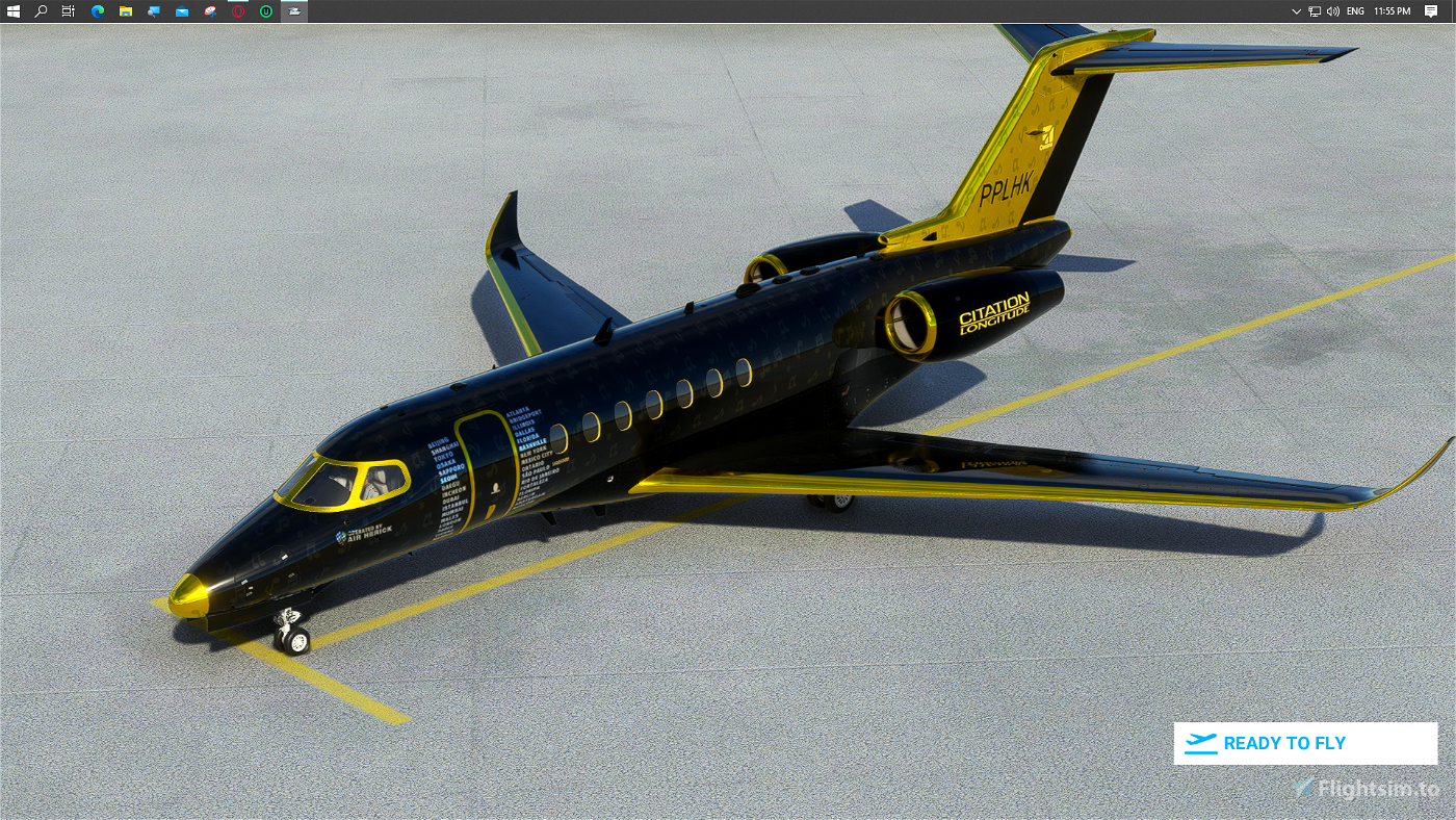 Shiny+Gold Pilotherick95's World Tour Livery 1 Flight Simulator 2020