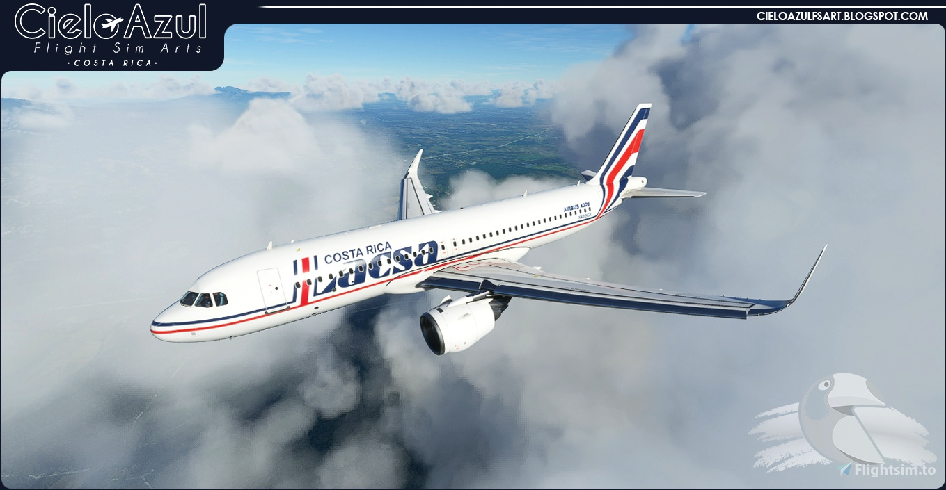 LACSA | N483GX & N485GX | Asobo Airbus A320neo (8K)