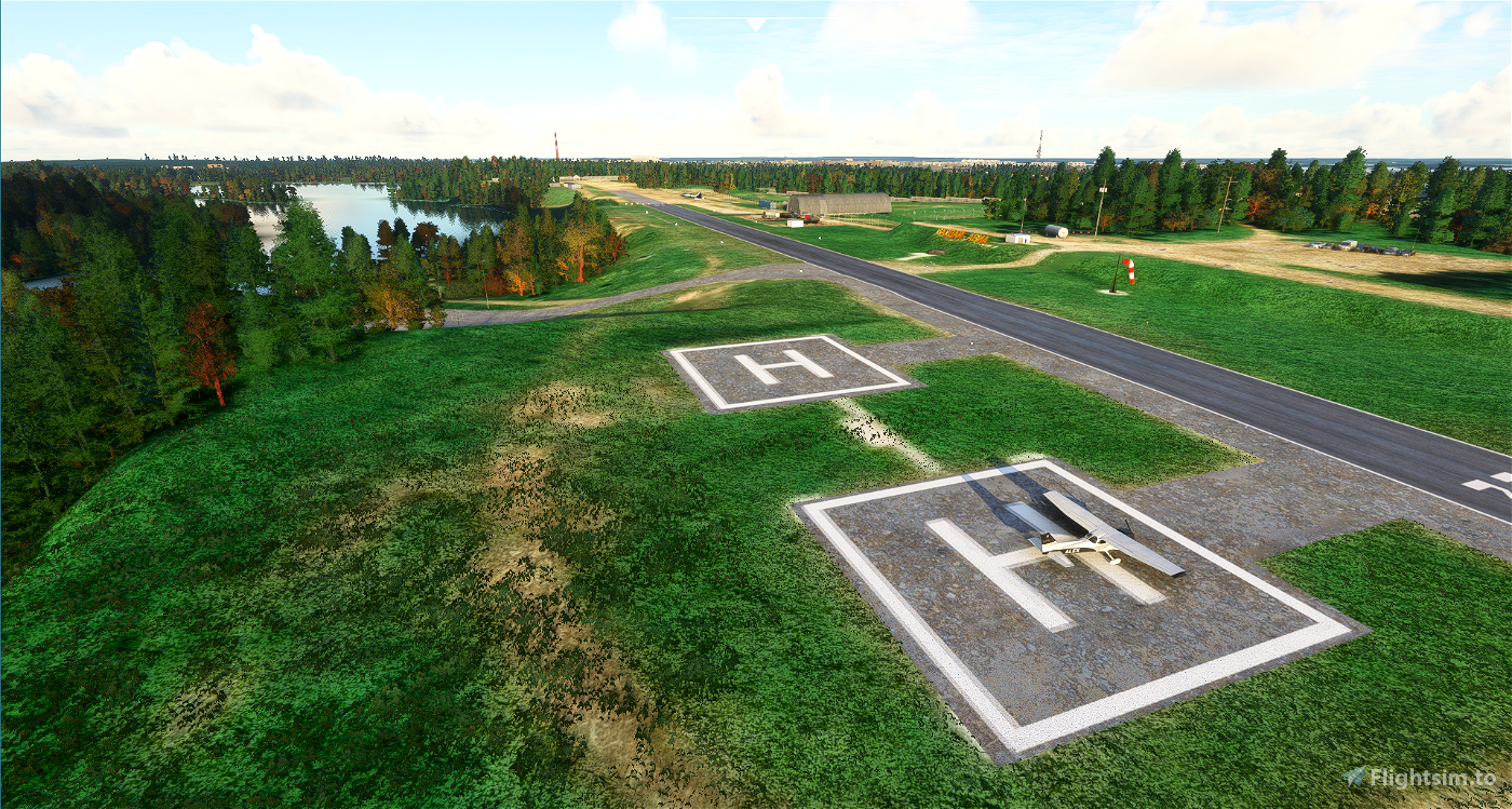 Valday Landmarks and ULNA airfield (with orthophoto)