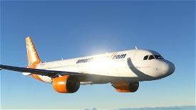 A320 NEO ČSA (Czech Airlines) Smartwings Orange Image Flight Simulator 2020