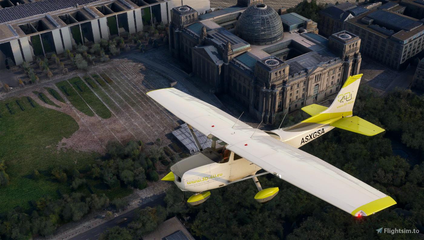 Cessna 172 AS1000 livery - 3D-4U.eu Flight Simulator 2020