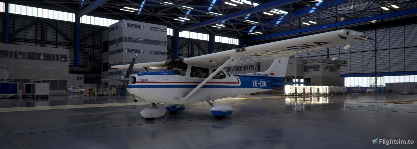 Cessna 172 classic 4K SMATSA Aviation Academy YU-DIA Image Flight Simulator 2020