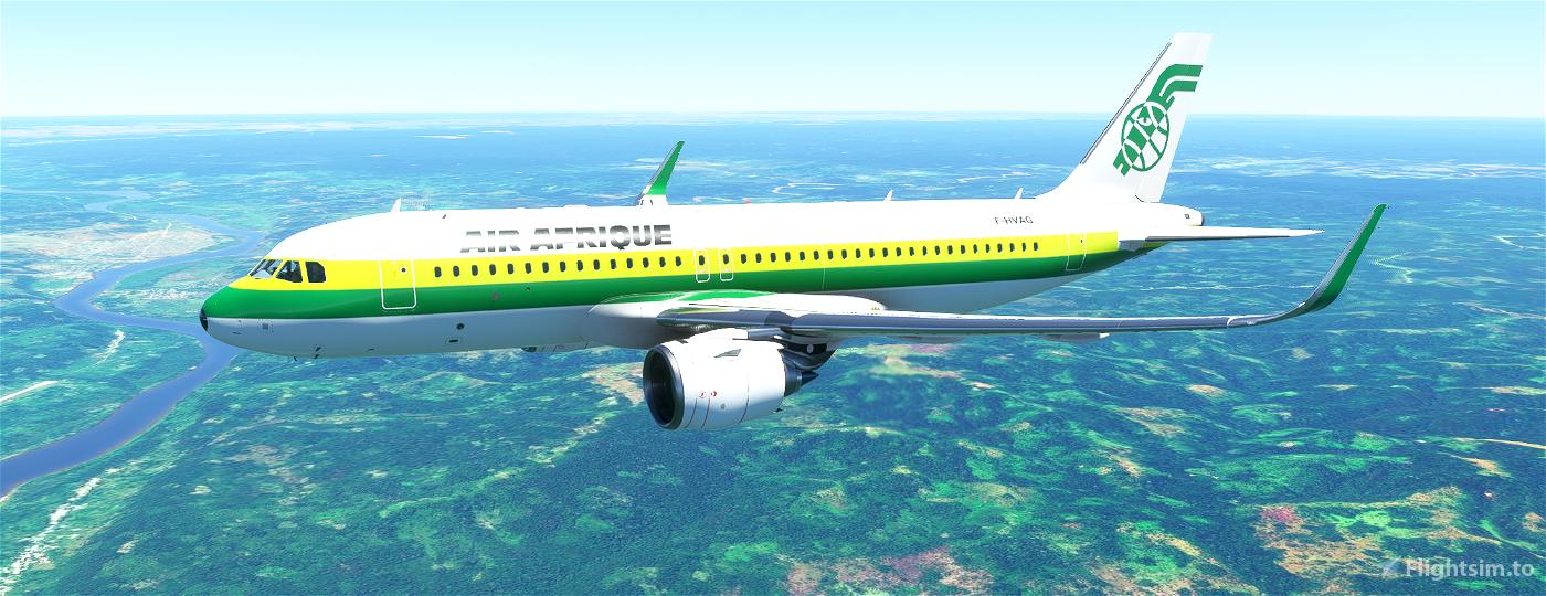 A320neo AIR AFRIQUE Flight Simulator 2020