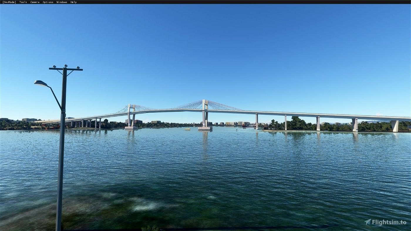 Marcelo Fernan Bridge (Cebu City,Philippines) Flight Simulator 2020