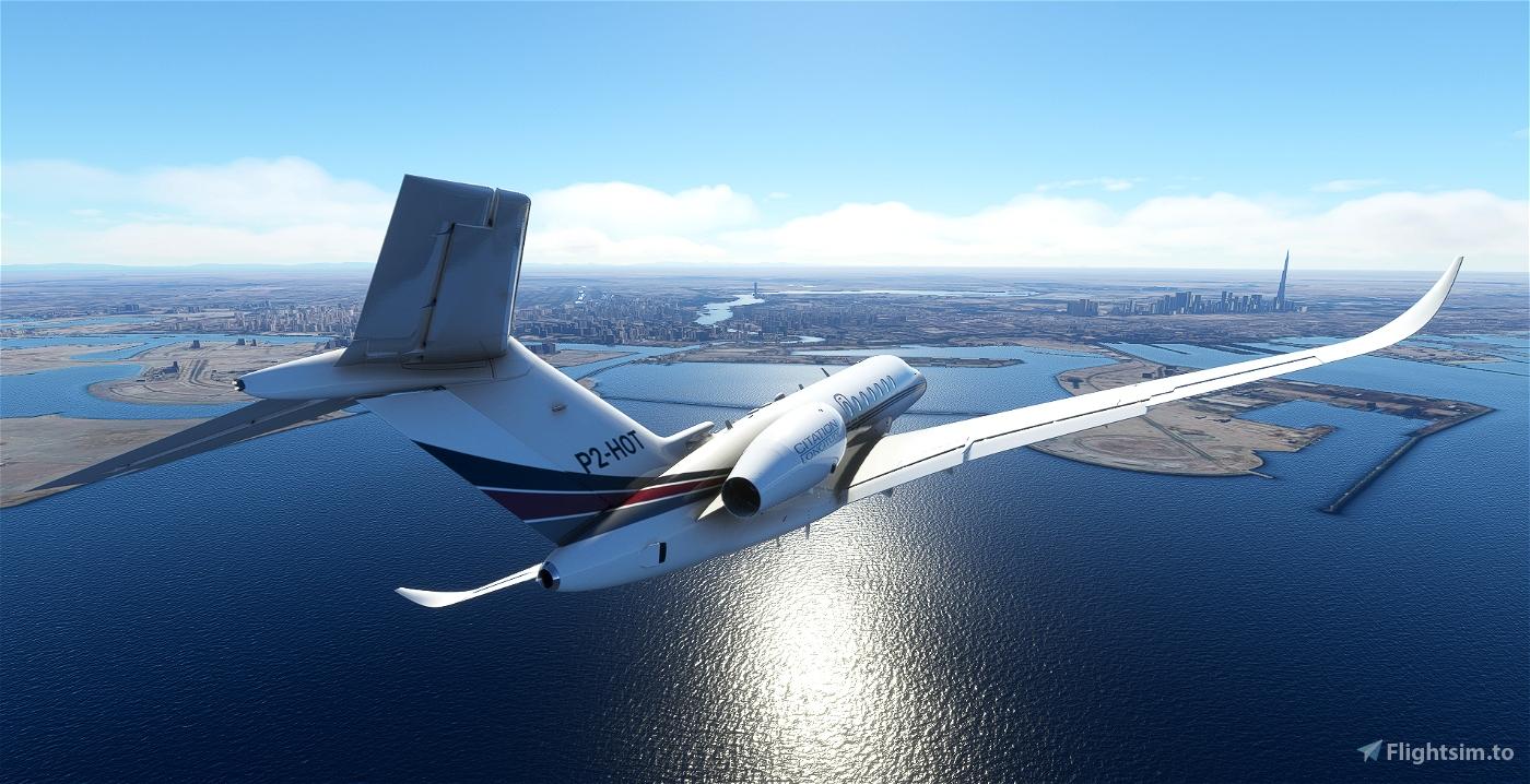 NETJETS Citation Longitude Flight Simulator 2020