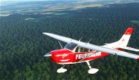 Carenado Cessna 182 Skylane_Feuerwehr Niedersachsen Image Flight Simulator 2020