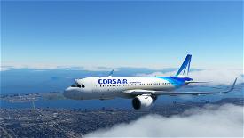 [4K] A320 Corsair international Image Flight Simulator 2020