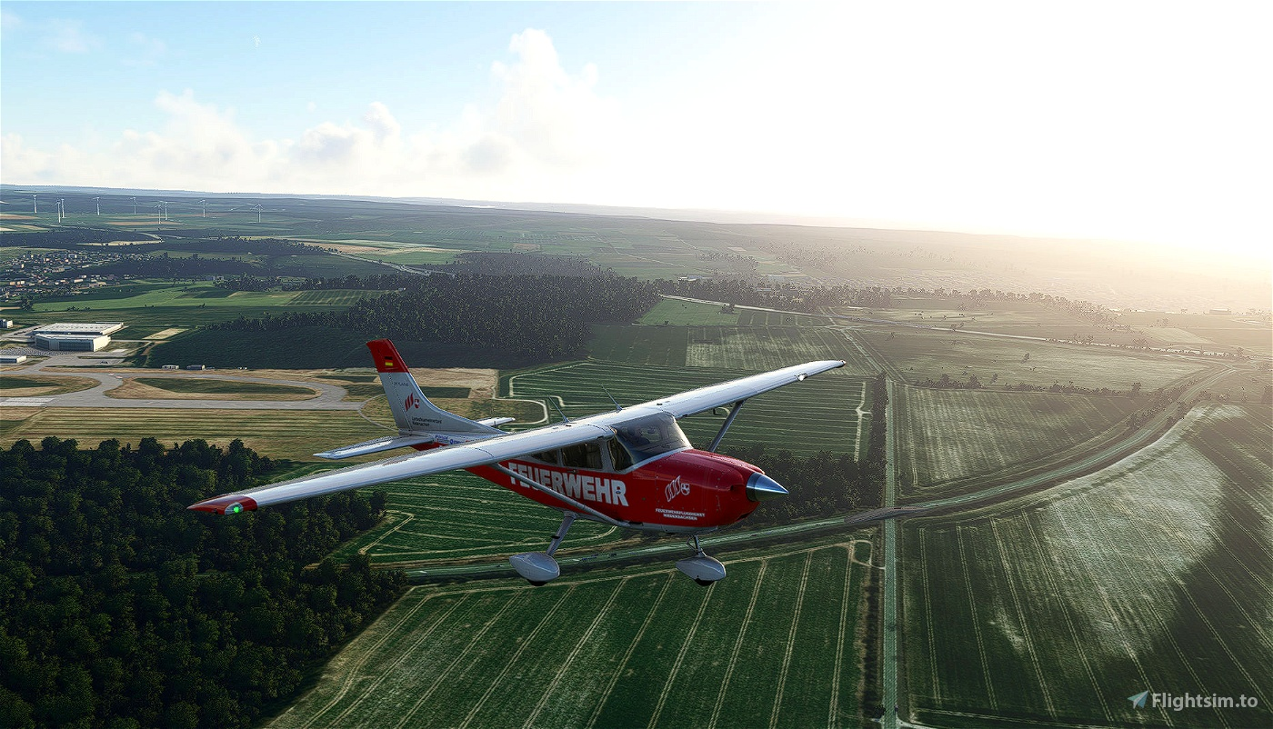 Carenado Cessna 182 Skylane_Feuerwehr Niedersachsen