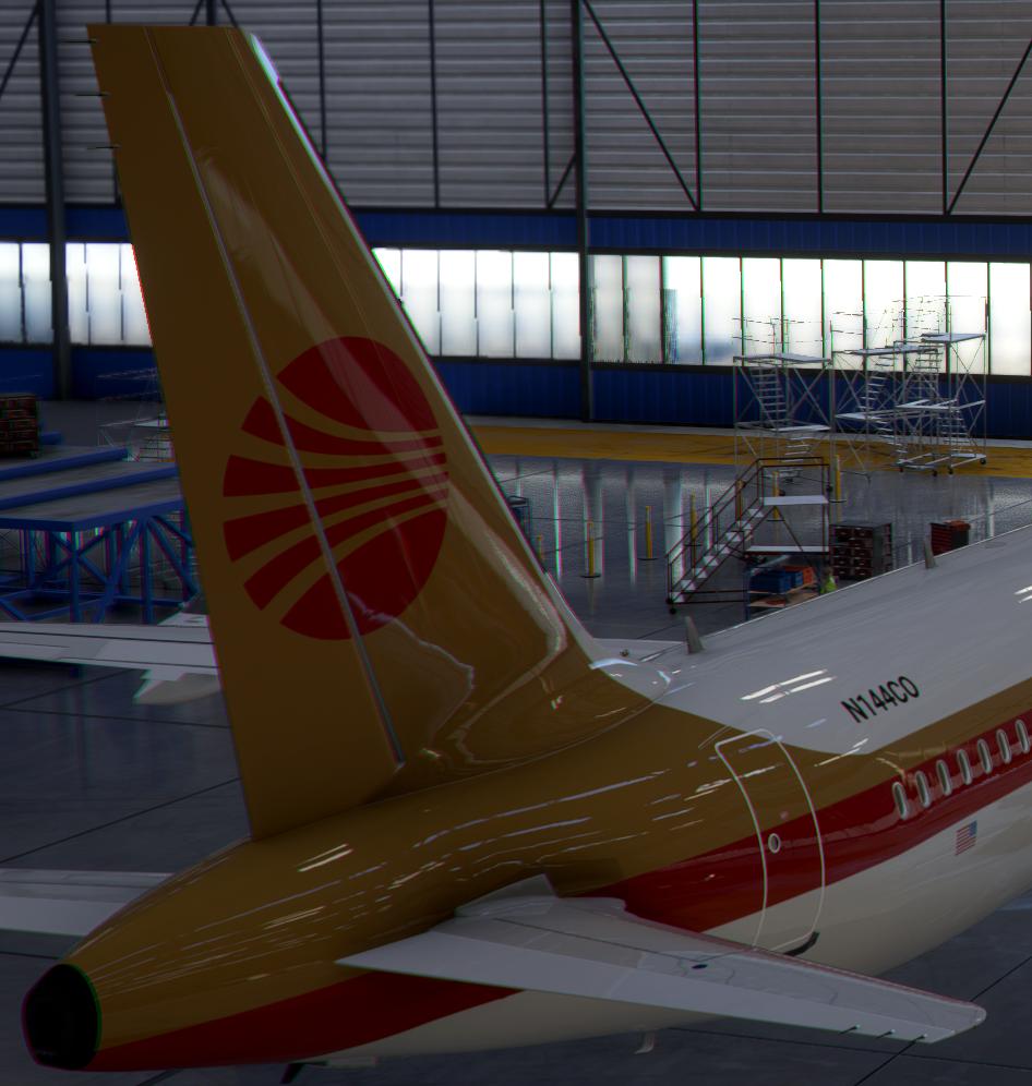 A320neo Continental 1980s [8k] Flight Simulator 2020
