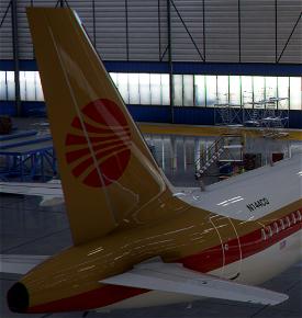 A320neo Continental 1980s [8k] Image Flight Simulator 2020