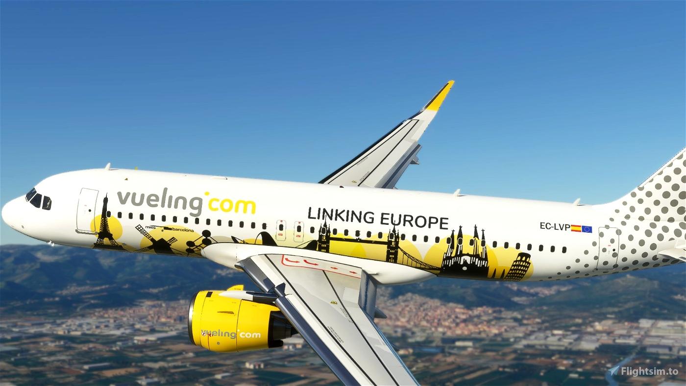 Vueling Airlines (Linking Europe) EC-LVP [8K] Flight Simulator 2020