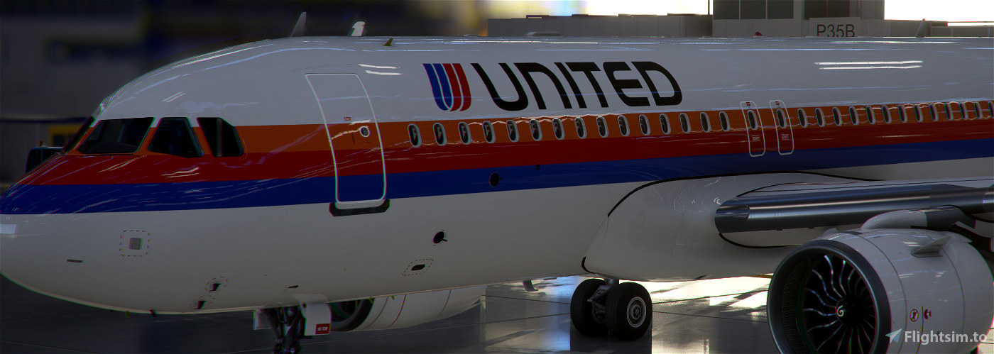 A320neo United Airlines 1980s [8k]