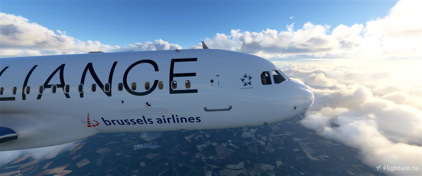 [8k] A320 Neo Brussels Airlines - Star Alliance Flight Simulator 2020