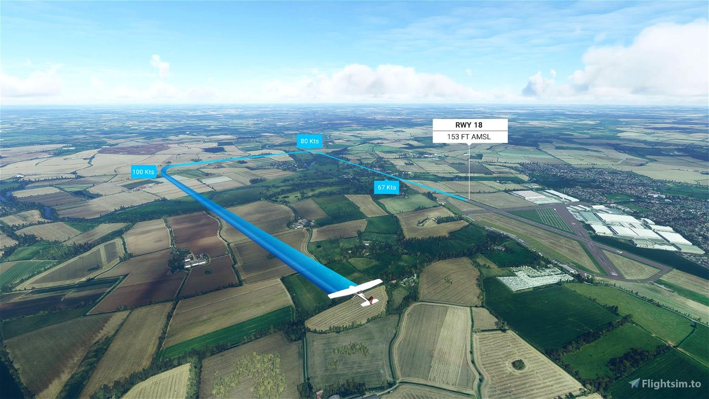 Wellesbourne Mountford RWY18 Landing Challenge Flight Simulator 2020