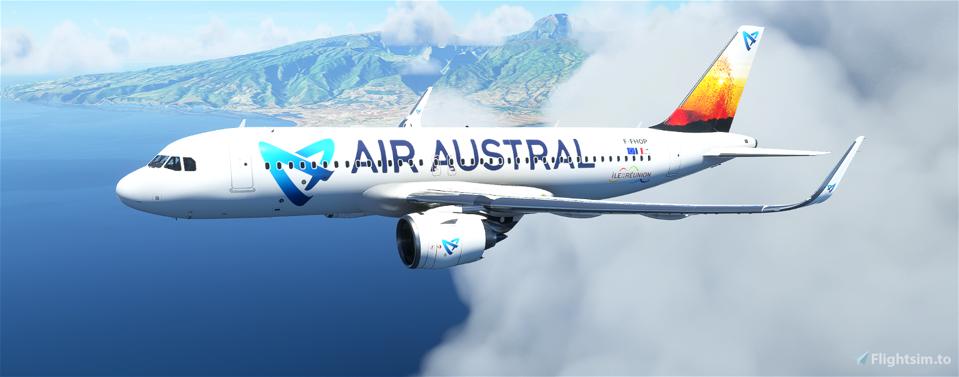 A320neo AIR AUSTRAL PACK 5 Liveries Flight Simulator 2020