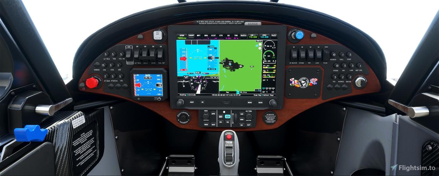 Crafter X Cub panel, updated Flight Simulator 2020